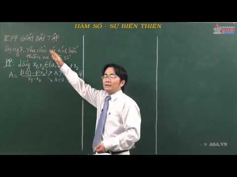 Đại số lớp 10 - Hàm số bậc nhất và bậc hai - Sự biến thiên - Cadasa.vn
