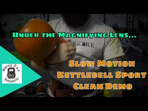 How to Do a Kettlebell Sport Clean w Joe Daniels ( Close Up,  HIGH RES and SLOW MOTION)