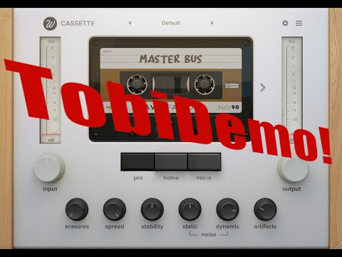 Demo of WavesFactory Cassette Saturation Plugin