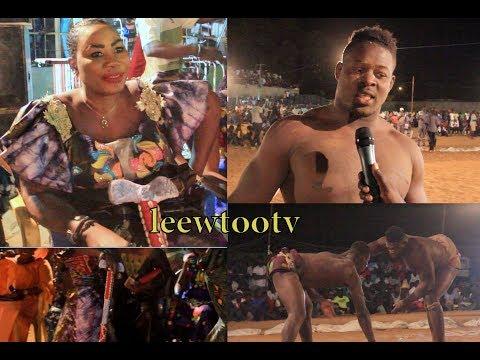 """lutte simple à Mbour: Regardez les """"xons"""" de la chanteuse Mbayang Loum"""