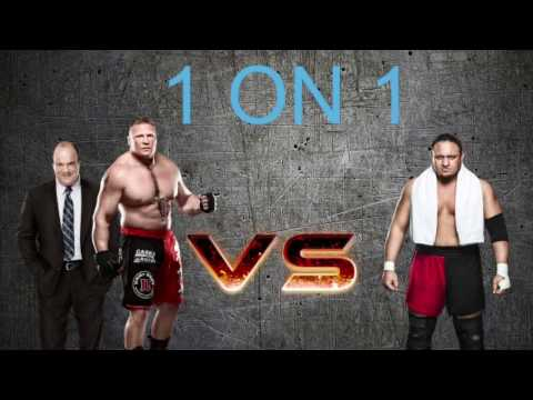 SAMOA JOE VS BROCK LESNAR w/ PAUL HEYMAN | WWE MATTEL ACTION FIGURE STOP MOTION
