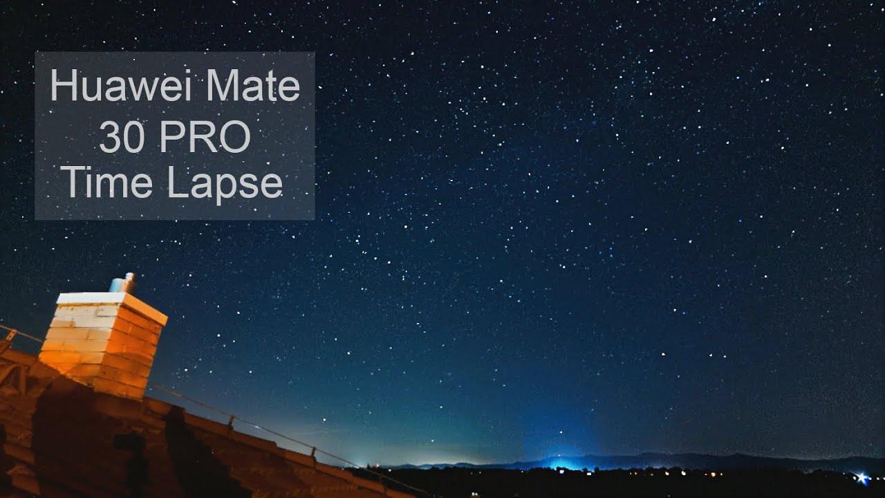 Huawei Mate 30 Pro Stars Time Lapse