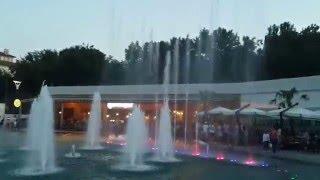 Поющий светящийся фонтан в Аркадии красота