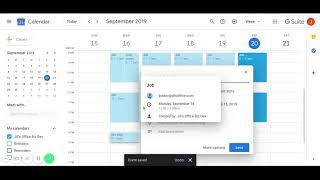 Setting up your Google Calendar for Jill's Office