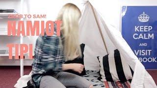 Jak zrobić namiot tipi dla dzieci ze starego prześcieradła i kijów do miotły?