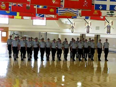 Royal Canadian Mounted Police in training, Regina, Sask