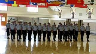 Royal Canadian Mounted Police In Training, Regina, Sask