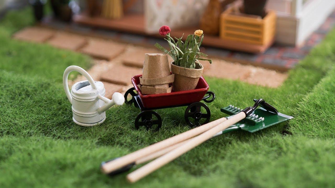 dollhouse miniature garden tools
