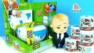 #Сюрпризы в Унитазе и Туалетной Бумаге! Жители Туалета! Видео для детей! Губка Боб! Босс Молокосос