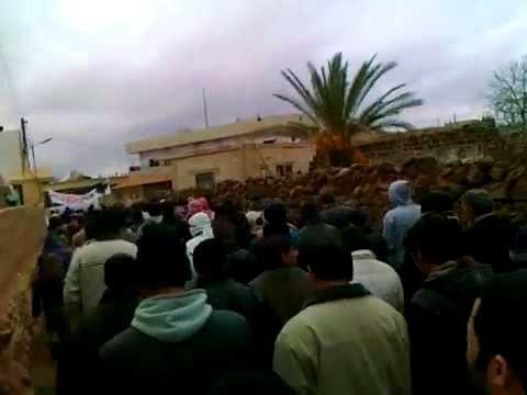 شام درعا السهوة مظاهرة جمعة دعم الجيش السوري الحر 13 1 2012