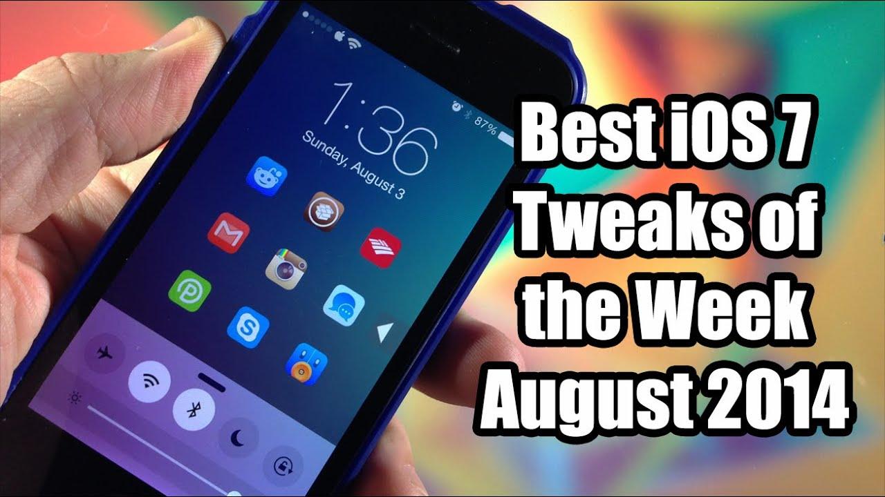 Best Ios 7 Cydia Tweaks Of The Week August 2014 Youtube