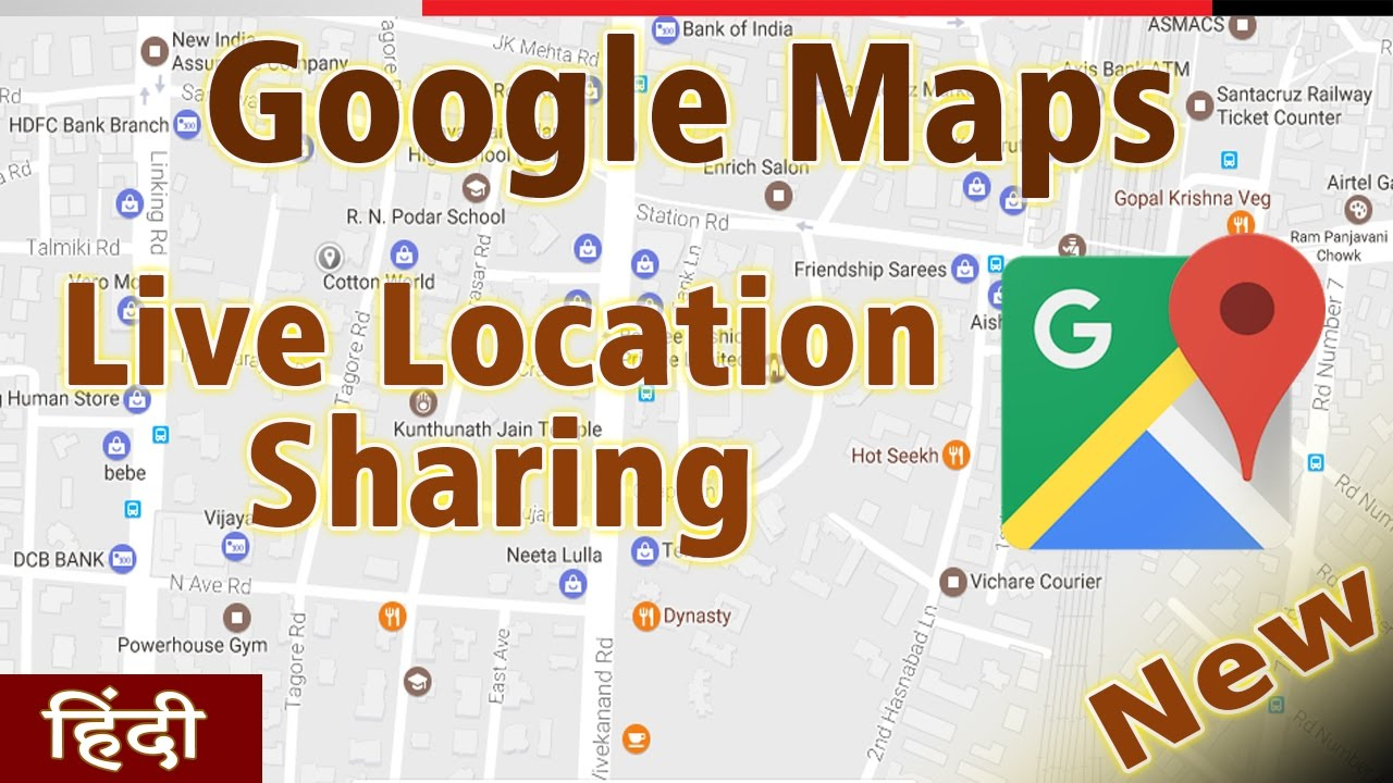 Google Maps Live Location Sharing Feature - How to Use || Hindi