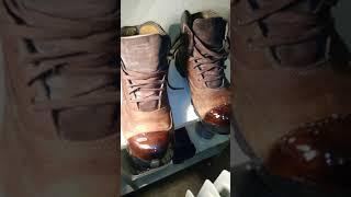 Shoe goo on work boots