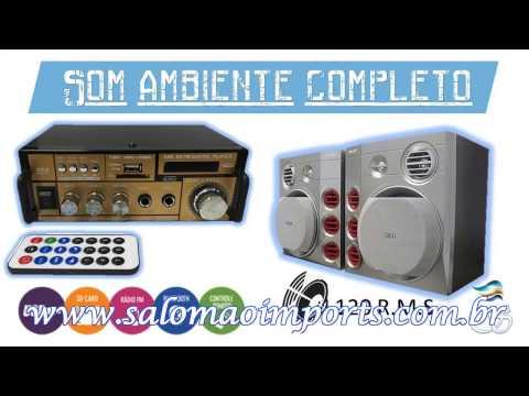 Mini Amplificador com caixas Philips