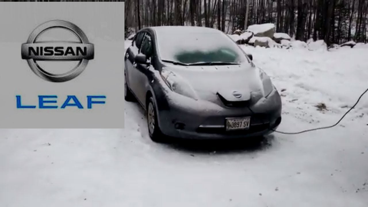 Nissan Leaf S 2017 Climate Control Level 1 Charging In Maine Winter Outside Review