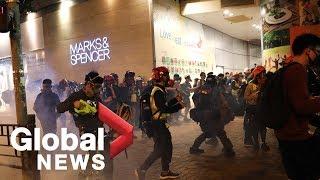 Hong Kong pro-democracy protesters gather in Mong Kok