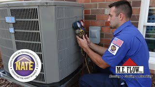 NATE Certified Heating and Cooling Contractor M.E. Flow in Virginia