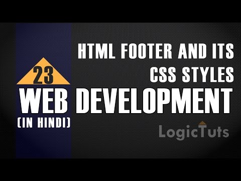 HTML Footer And Its Css Styles