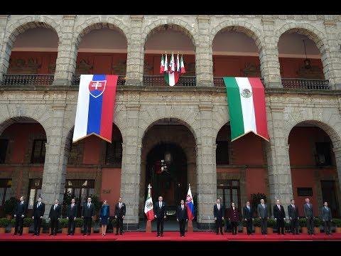 Visita de Estado del Presidente de la República Eslovaca, Andrej Kiska: Ceremonia de Bienvenida
