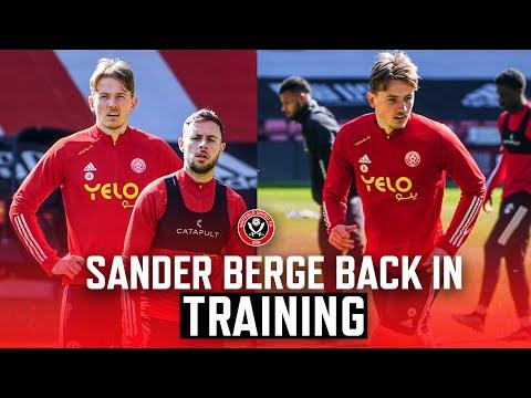 Sander Berge back in training | Sheffield United first team training at Bramall Lane