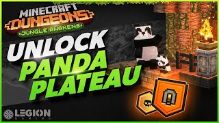 How To Unlock Panda Plateau | New SECRET LEVEL - Minecraft Dungeons Jungle Awakens DLC