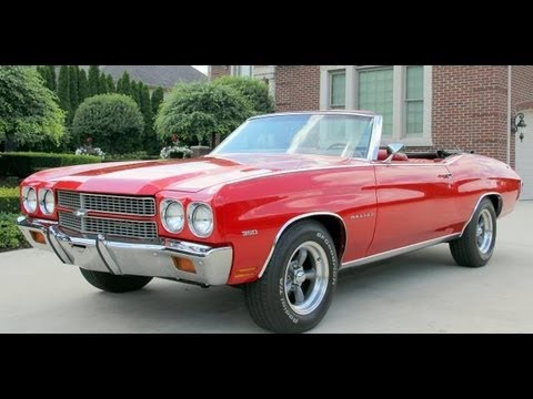 1970 Chevy Malibu Convertible Classic Muscle Car for Sale in MI Vanguard Motor Sales