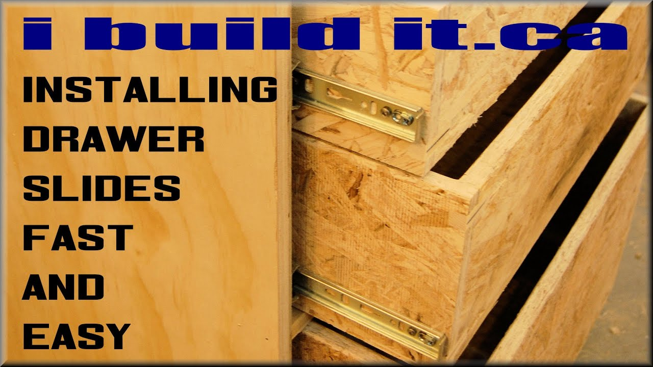 How To Install Drawer Slides Fast And Easy - YouTube