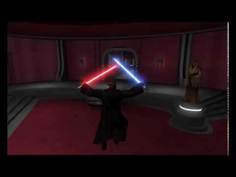 Star Wars Jedi Knight Jedi Academy - Movie Duels 2 - Anakin vs Palpatine |