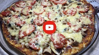 Пицца с курицей и грибами за 95 рублей