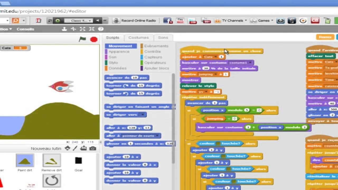 a la decouverte de scratch 2 0 lecon 1 interface et premier projet