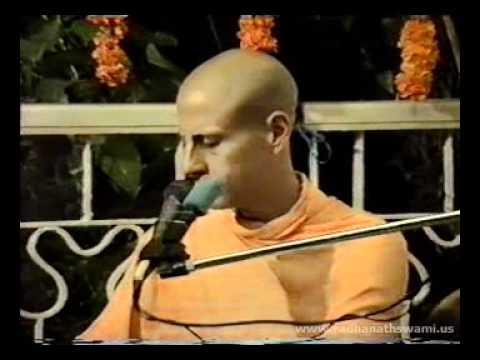 Radhanath Swami at Dr Mohan Indani's Residence 1990 - Part 01