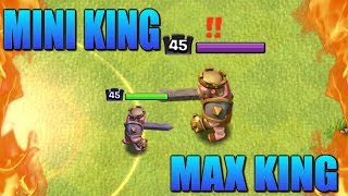 LITTLE KING vs NORMAL KING - New Shrink Trap Clash of Clans Gameplay - Who Will Win the CoC Battle?