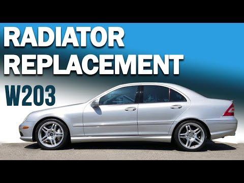 Mercedes-Benz W203 C-Class Radiator Replacement
