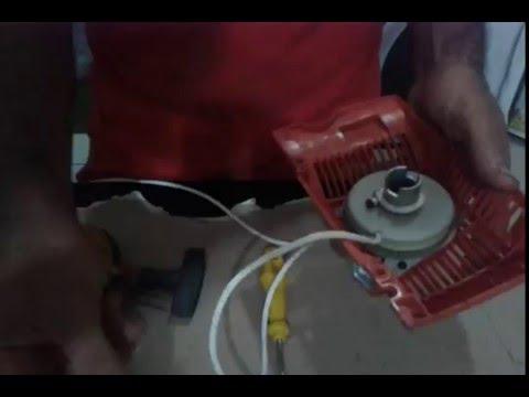 COMO TROCAR A CORDA E A POLIA DE PARTIDA DA MOTOSSERRA - YouTube f9de0dc2d0