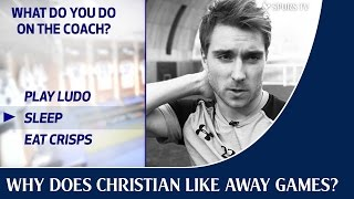 Why does Christian Eriksen like away games?