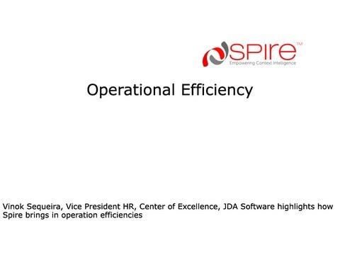 Spire TalentSHIP® - JDA Software Testimonial - Operational Efficiency