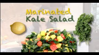 How To Make The Best Marinated Raw Kale Salad | Diana Stobo