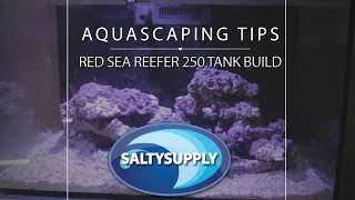 Salty Supply Tank Build Part 3 - Reef Aquascaping - Caribsea Lifer