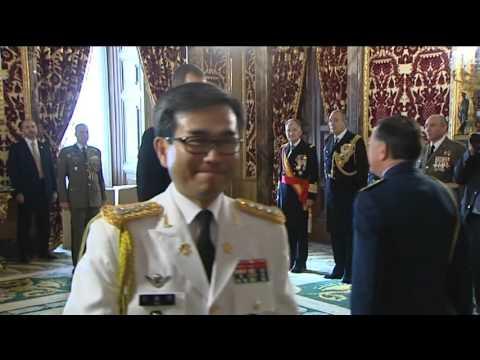 Audiencia de S.M. el Rey a los agregados militares de 26 países acreditados en España