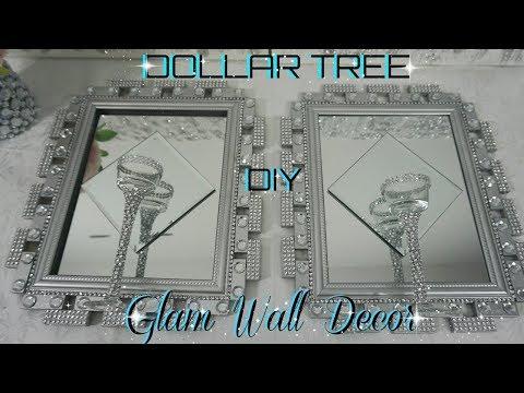 DOLLAR TREE DIY BLING MIRROR WALL SCONCE | DOLLAR STORE GLAM WALL DECOR | DIY HOME DECOR IDEAS 2018