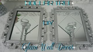 DOLLAR TREE DIY BLING MIRROR WALL SCONCE | DOLLAR STORE GLAM WALL DECOR | DIY HOME DECOR IDEAS 2018