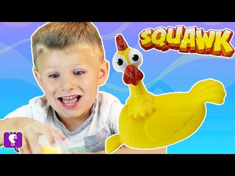 HobbyBear Plays SQUAWK CHICKEN GAME and Opens an Egg-splosive Surprise Egg