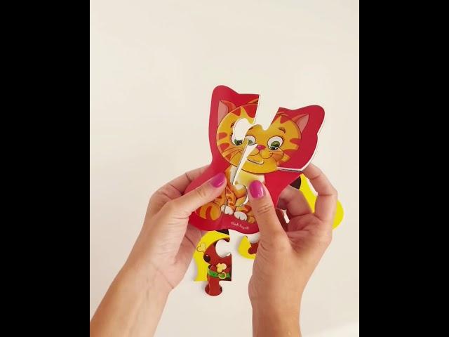 Vladi Toys VT3208-06 Мягкие магнитные Baby puzzle Котенок и щенок