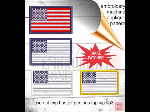 Making An ITH USA Flag Patch - Embroidery Machine Tutorial