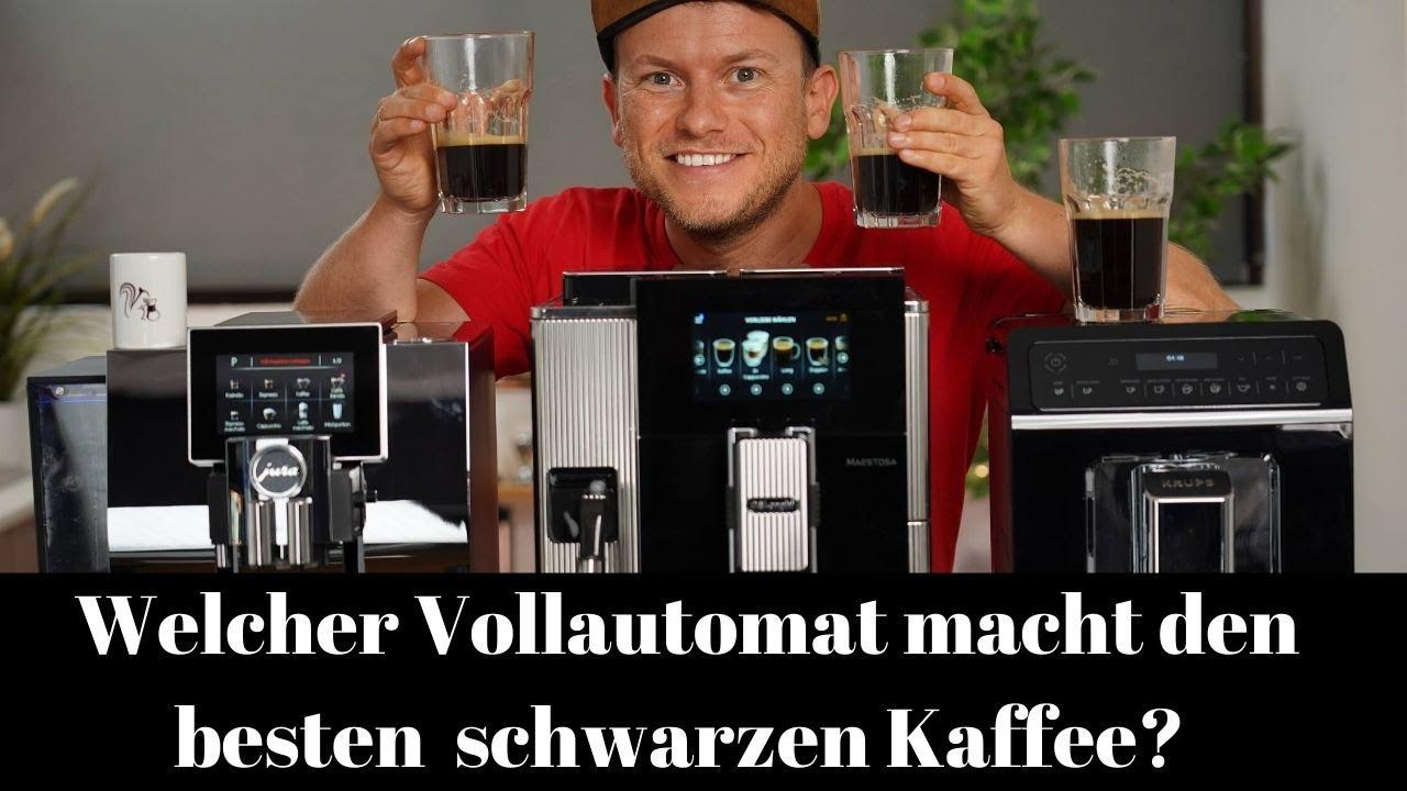 Schwarzer Kaffee aus dem Kaffeevollautomaten: Delonghi Maestosa vs. Jura Z8 vs. Krups Evidence