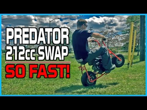 Baja Dirt Bug Predator 212cc Swap (FAST Mini Bike | Power Wheelies)