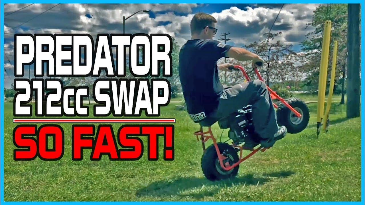 Baja Dirt Bug Predator 212cc Swap (FAST Mini Bike   Power Wheelies)