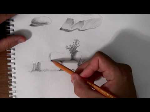 Как рисуются камни