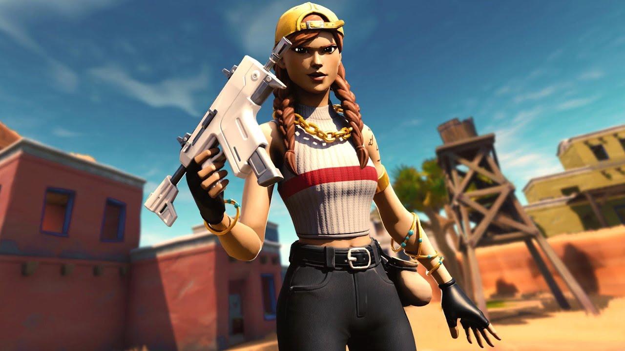 Zone Wars Aura Skin Gameplay Fortnite Battle Royale