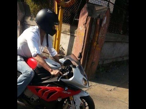 Shah Rukh Khan Srk Riding Sports Bmw Bike In Mumbai